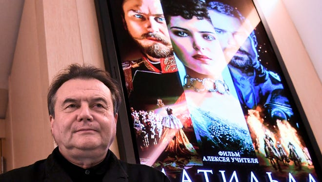 """Russian film director Alexei Uchitel waits during the press screening of his """"Mathilda"""" movie in the Sputnik Russian news agency main building on Oct. 11, 2017."""
