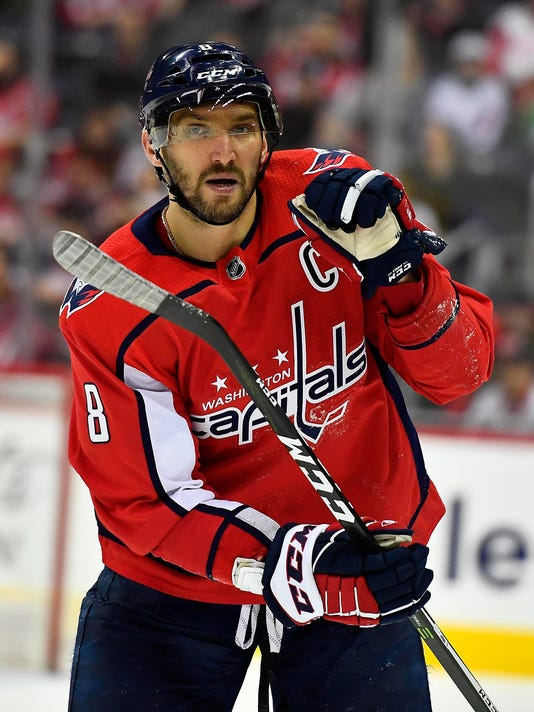 5523857436d USP NHL  DETROIT RED WINGS AT WASHINGTON CAPITALS S HKN WSH DET USA DC.  Washington Capitals left wing Alex Ovechkin has 592 goals ...