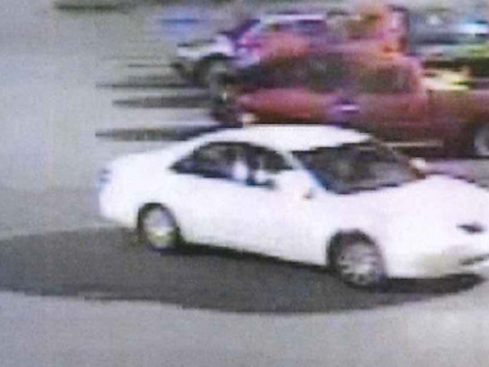 The Asheville Police Department is searching for a suspect who they say stole a wallet and stolen credit cards March 12.