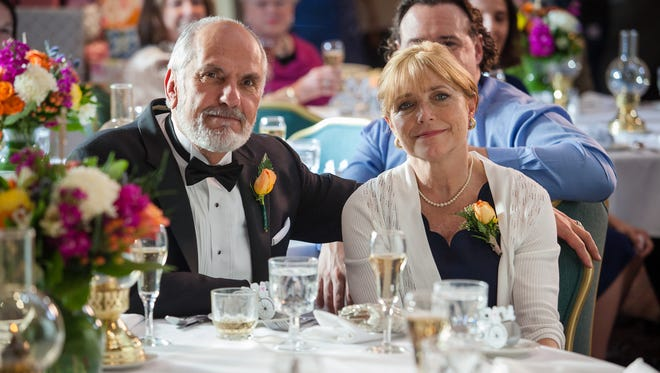 """Robin (Michael Cristofer) and Joan (Karen Allen) celebrate their son's wedding in """"Year by the Sea,"""" which is based on the book by Joan Anderson."""