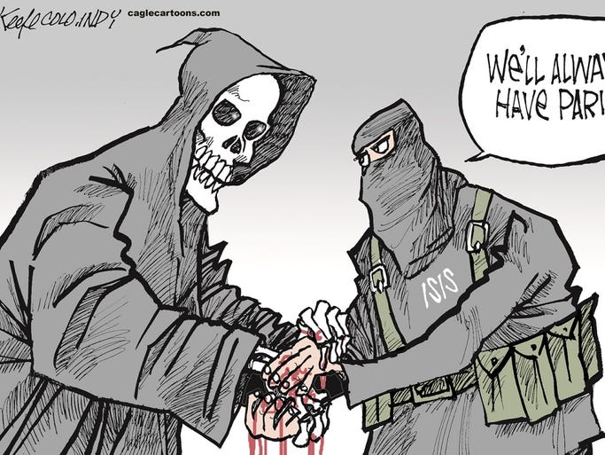 Image result for ISIS Chemical attack CARTOON