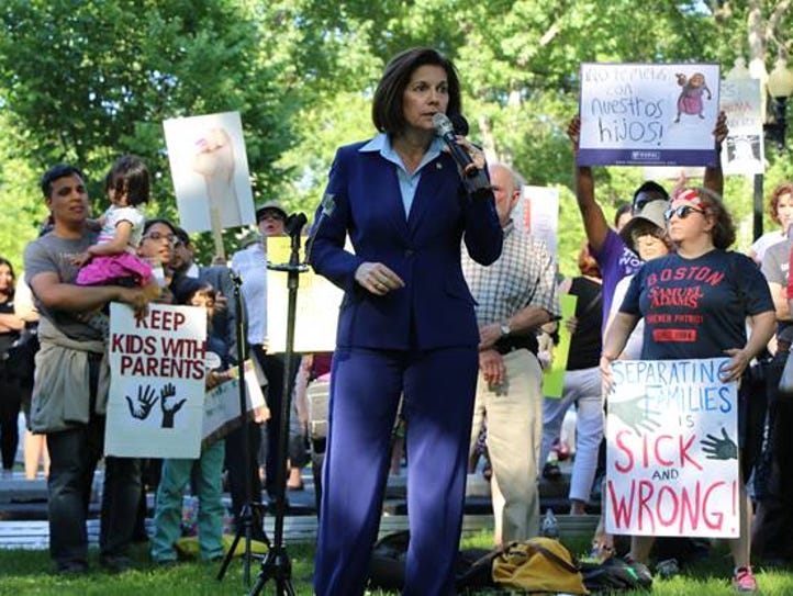 U.S. Sen. Catherine Cortez Masto, D-Nev., speaks at