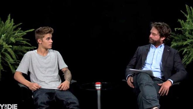Justin Bieber  appears on 'Between Two Ferns with Zach Galifianakis.'