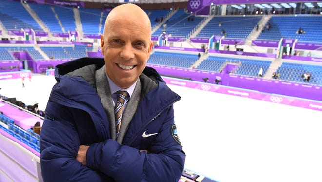 Former champion figure skater Scott Hamilton attends the 2018 Olympic Winter Games on Feb. 14, 2018, in Pyeongchang, South Korea.