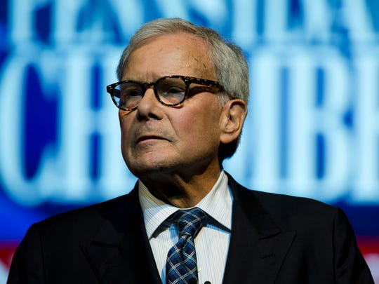 A Connecticut university says Tom Brokaw has withdrawn