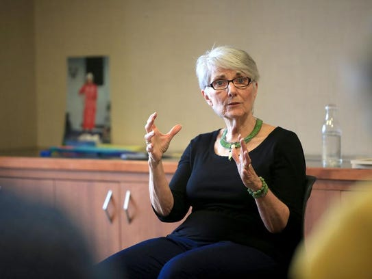 Professional storyteller Connie Regan-Blake leads an