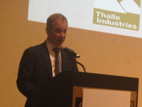Attorney General Eric Schneiderman spoke in front of