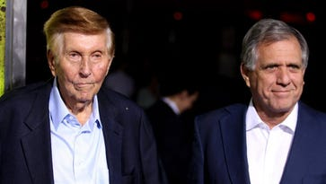 Sumner Redstone, left, until recently was chairman of Viacom. He is 92. Les Moonves, right, is CEO of Viacom property CBS. Moonves is 66.
