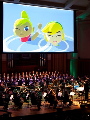 """The Seattle Symphony performs """"The Legend of Zelda: Symphony of the Goddesses"""" in front of a sold-out crowd in Benaroya Hall in Seattle on Sept. 12, 2013."""