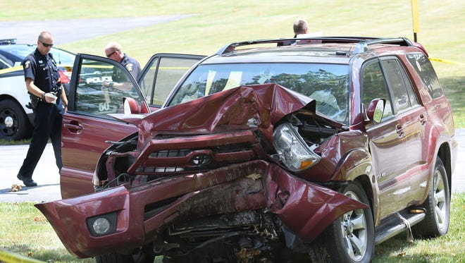 A severe one-car accident left a driver dead in front of the First Presbyterian Church at the corners of Trimble and Millsboro roads Tuesday afternoon.