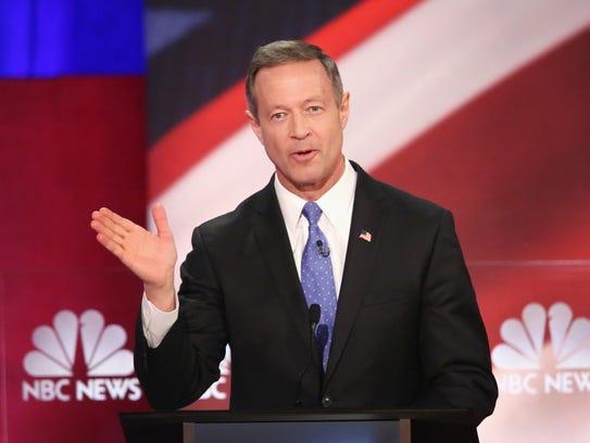 Martin O'Malley participates in the Democratic debate
