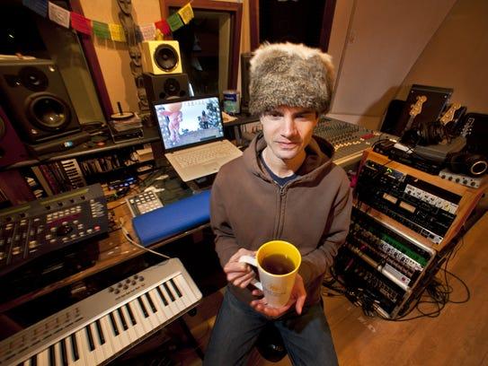 Ryan Power in his Stu Stu Studio at Fort Ethan Allen