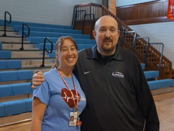 David Priestley, freshman football coach at Lakeland HS (LaGrange, Ind.), and his wife, Stacey, wait every day for a phone call that a heart is available. Priestley is on a transplant list to get a heart at IU Health Methodist.