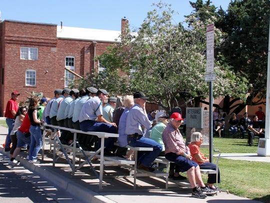 An estimated crowd of 150 came out Saturday to celebrate the centennial of the Deming Armory at Veterans Park. The srmory sits in the background at 301 S. Silver St.