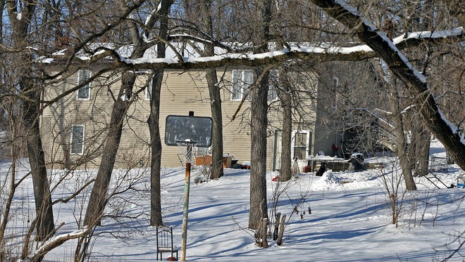 The home where the bodies of Gordon Lasley Sr. and his wife Kim Lasley, victims of apparent homicide, were found on the Meskwaki Settlement on Wednesday night Feb. 5, 2014.