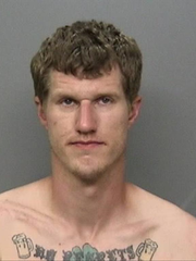ARRESTED: Dustin Reuel Blanken Date of birth: Oct. 7, 1989 Vitals: 6 feet, 2 inches; 165 pounds; blond hair, blue eyes Charge: Violation of probation Arrest date: March 19, 2018
