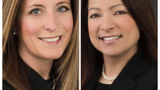 Nicole Bayly, left, and Alecia Mazzo