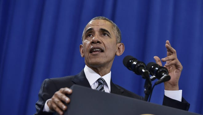 President Obama speaks on counterterrorism at MacDill Air Force Base in Tampa on Tuesday.