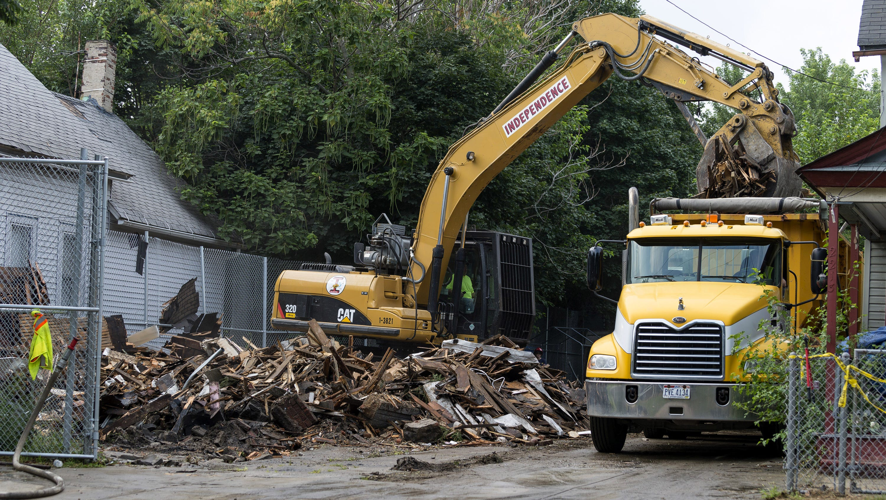 Castro's home is torn down.