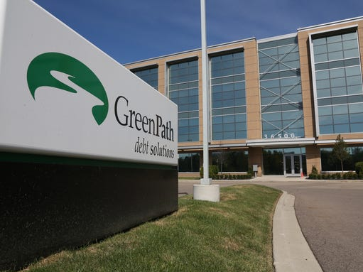 An exterior view of GreenPath, a debt solutions company at their
