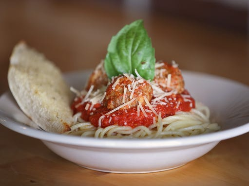 A tasty dish with homemade pasta at Rolling in the