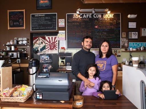 <br /><br /><br /><br /><br /> Cafe con Leche: Back: Jordi Carbonell, Melissa Fernandez;