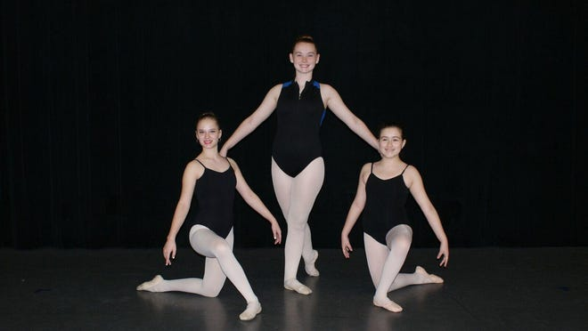 Three dancers from Robertson County were cast in Nashville's Nutcracker, running now through Dec. 23 at TPAC's Jackson Hall. Pictured from left are Marcy Lassiter, Piper Mackenzie Harris and Jaidyn Hayes.