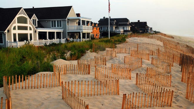 Houses on the Jersey Shore.
