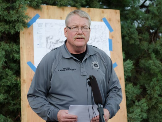 Gila County Sheriff Adam Shepherd announces the discovery