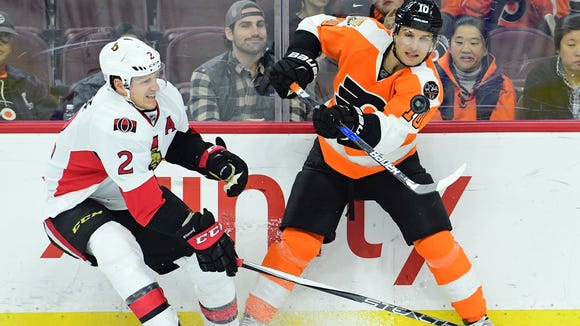 Brayden Schenn and the Flyers are trying to play spoiler for Ottawa Senators and Dion Phaneuf.