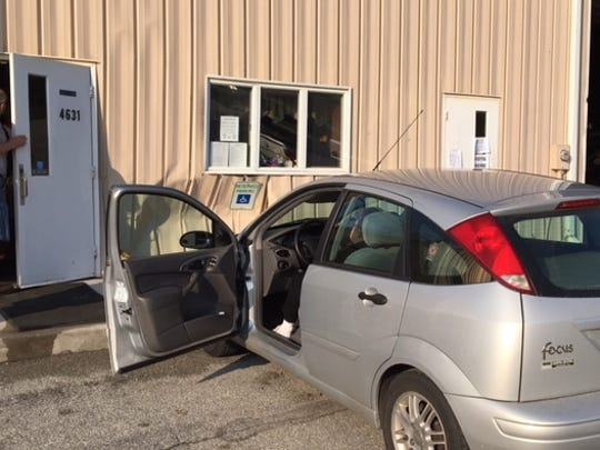 A driver struck the Codorus Township building around 7:15 a.m. Tuesday, May 15, 2018, as residents arrived to cast votes there for Pennsylvania's primary elections. Bill Kalina photo