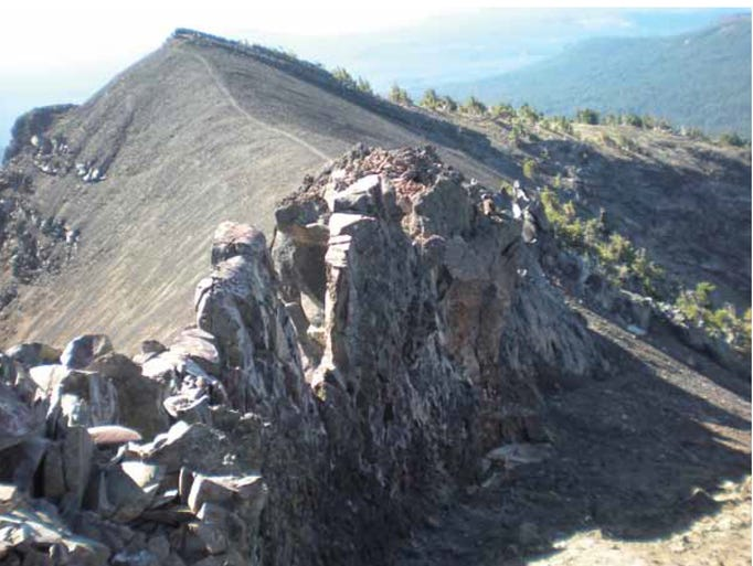 A view high atop Mount Bailey.