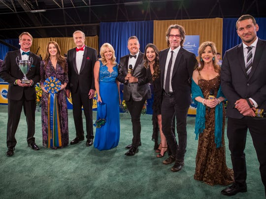 "Terry Simons, Andrea Arden, David Alexander, Lisa Arturo, Ross Mathews, Larissa Wohl, Rick Springfield, Linda Blair and Brandon McMillan appeared on ""2018 American Rescue Dog Show"" featuring shelter dogs of various breeds from across the country vying for top dog in the world's most adorable categories."