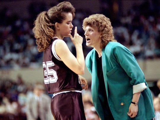 Cheryl Burnett, right, said until the Lady Bears played