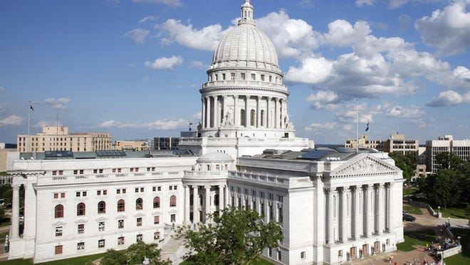 The state Capitol in Madison