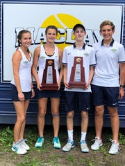Maclay's No. 1 doubles teams of Rachael Stockel and