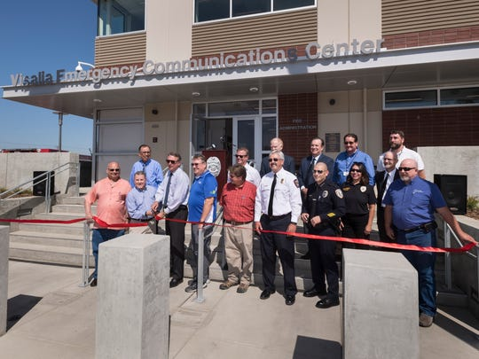 The City of Visalia held a ribbon cutting ceremony for its new Emergency Communications Center on Wednesday, September 20, 2017.
