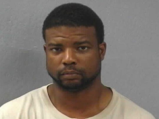 Wendell Hopkins, shown here in a prior mugshot, is wanted for felony burglary. Police say he broke into his ex-wife's home on Sept. 5 and was shot by their 15-year-old son.