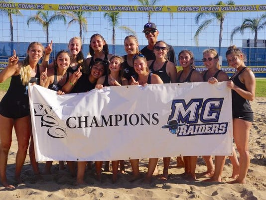 Moorpark College beach volleyball