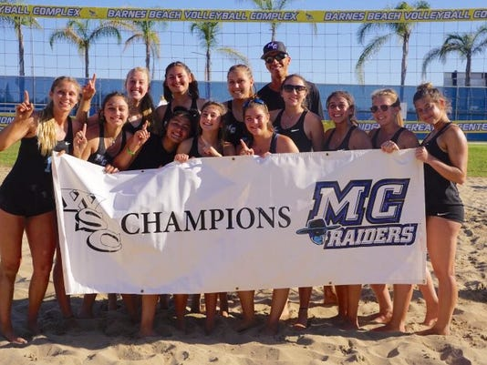 Moorpark College beach volleyball