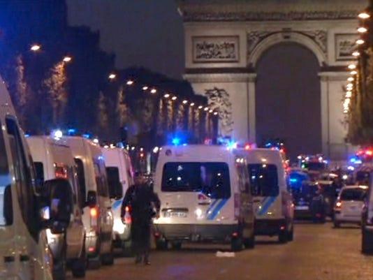 AP FRANCE PARIS POLICE SHOT I TV FRA
