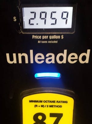 Nancy Jean Anderson shared this image of a gas station in Boca Raton where gas is below $3 a gallon.