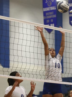 Lake View High School's Leila Ramirez (9) and Alize Garfias (10) were honored with selections on the District 5-4A all-district volleyball team. Ramirez, a junior setter, was first-team all-district while Garfias was an honorable-mention selection.