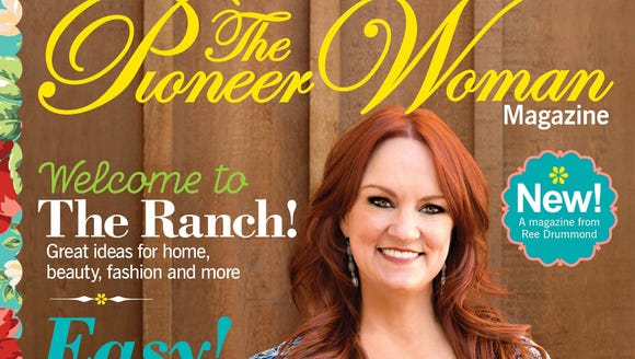The cover of 'The Pioneer Woman' magazine.