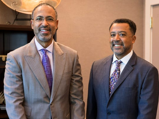 Attorneys Clyde Simien and Ricky Miniex at their office in Lafayette Monday, April 10, 2017.