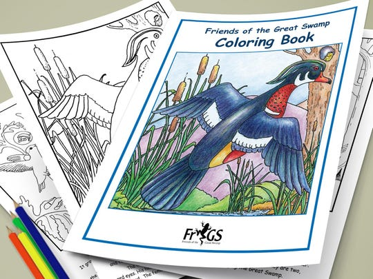 The Friends of the Great Swamp Coloring Book features panels from the quilt.