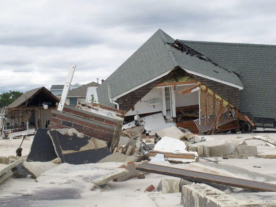 This Oct. 31, 2012, photo, taken two days after superstorm