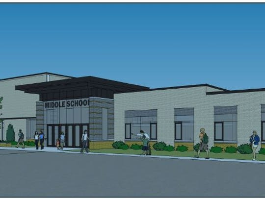 What the entrance will look like to the new Ripon Middle