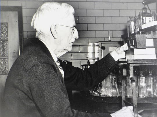 """Dr. C.H. Jones was UVM Agricultural Experiment Station chemist from 1896-1955. He was pioneer of maple research at the University of Vermont. Jones' early work shed scientifically investigated sap flow and carbohydrate content of sugar maple trees. Responsible for the """"Jones Rule of 86,"""" which states that 86 divided by the percent sugar of sap equals the number of gallons needed to produce one gallon of maple syrup."""