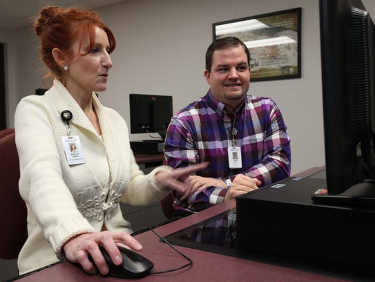 Mercy Recruiters Shannon Wright and Ross Roark try